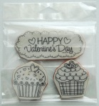 Cling Valentines cupcakes $4.50 + shipping