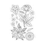 Marianne's Flowers stamp set